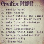 Ten Attributes of Creative People – How Creative Are You?